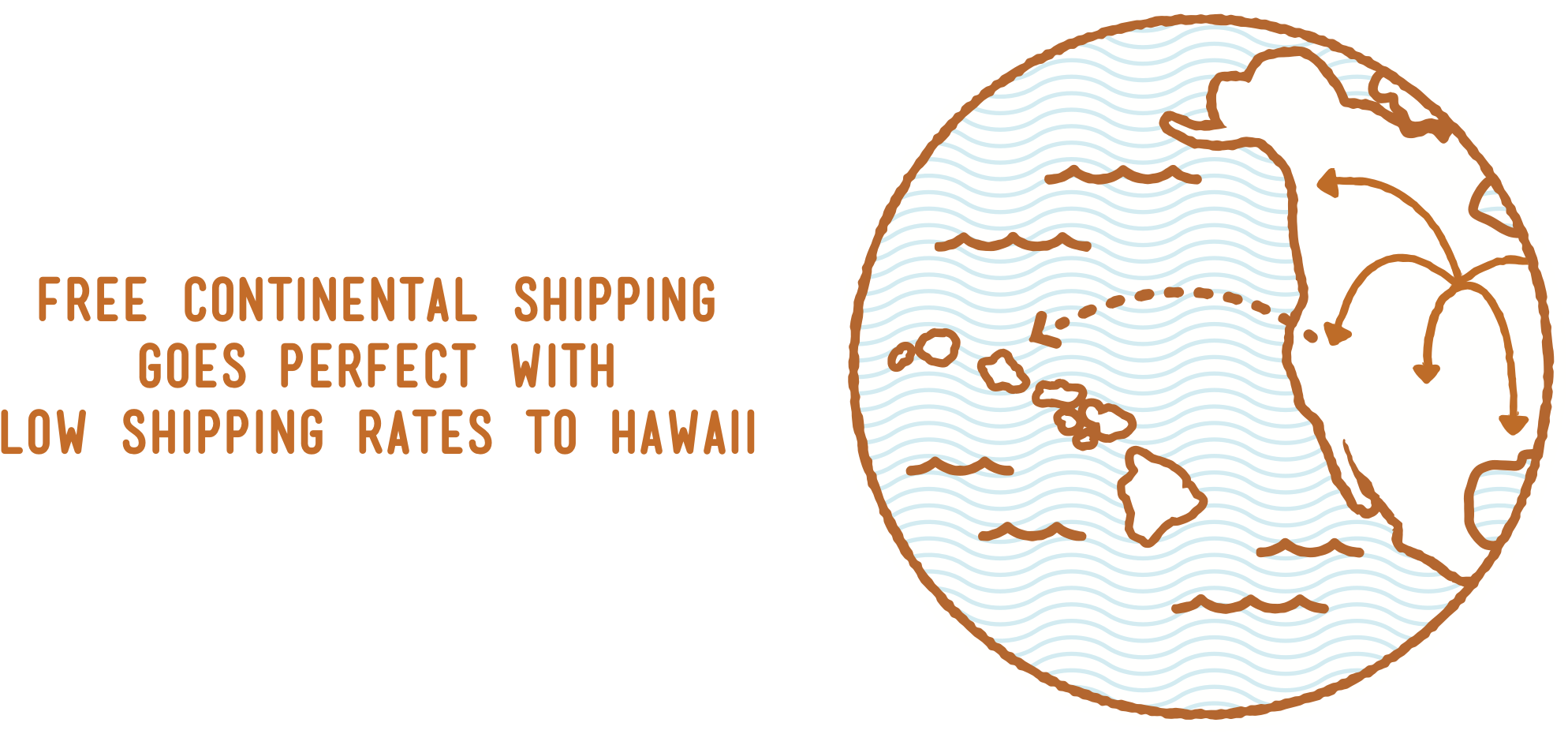 Free Mainland Shipping goes perfect with Low Shipping Rates to Hawaii